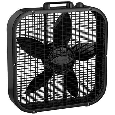 "B20401 Decor Box Fan, 20"", Black, Slim 20 inch box fan provides high volume air movement By Lasko"