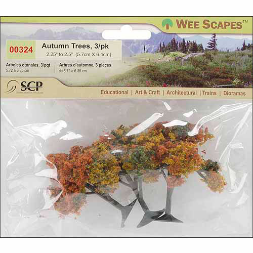 "SCP Autumn Tree, 2.25"" To 2.5"", 3/pkg"