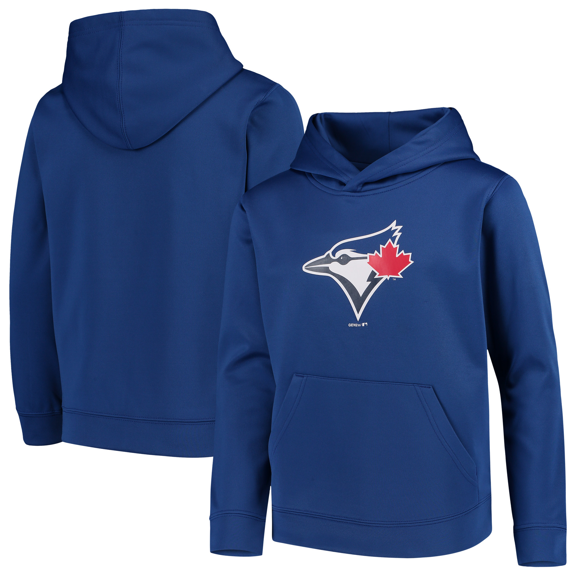Toronto Blue Jays Youth Logo Twill Fleece Pullover Hoodie - Royal