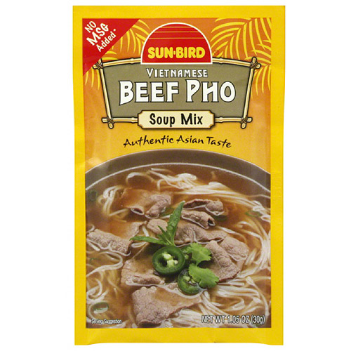 Sun-Bird Vietnamese Beef Pho Soup Mix, 1.05 oz, (Pack of 24)