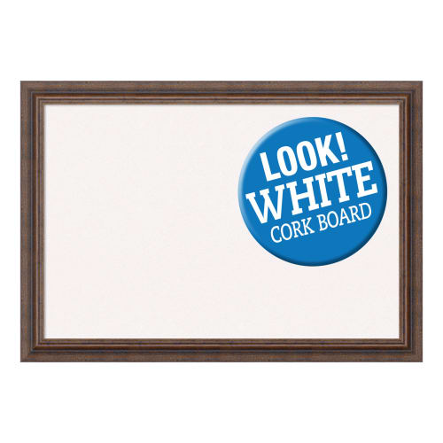 Amanti Art DSWDISCB2719 Distressed 27 Inch x 19 Inch Framed Cork Board