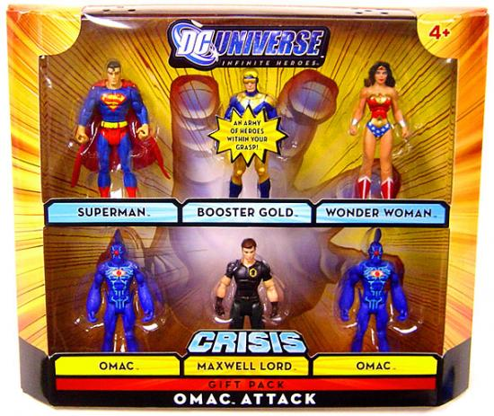 DC Universe Omac Attack 6 FIGURE SET Superman Wonder Woman Booster Gold ++