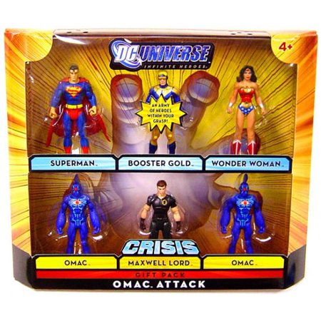 DC Universe Infinite Heroes Omac Attack Action Figure Set