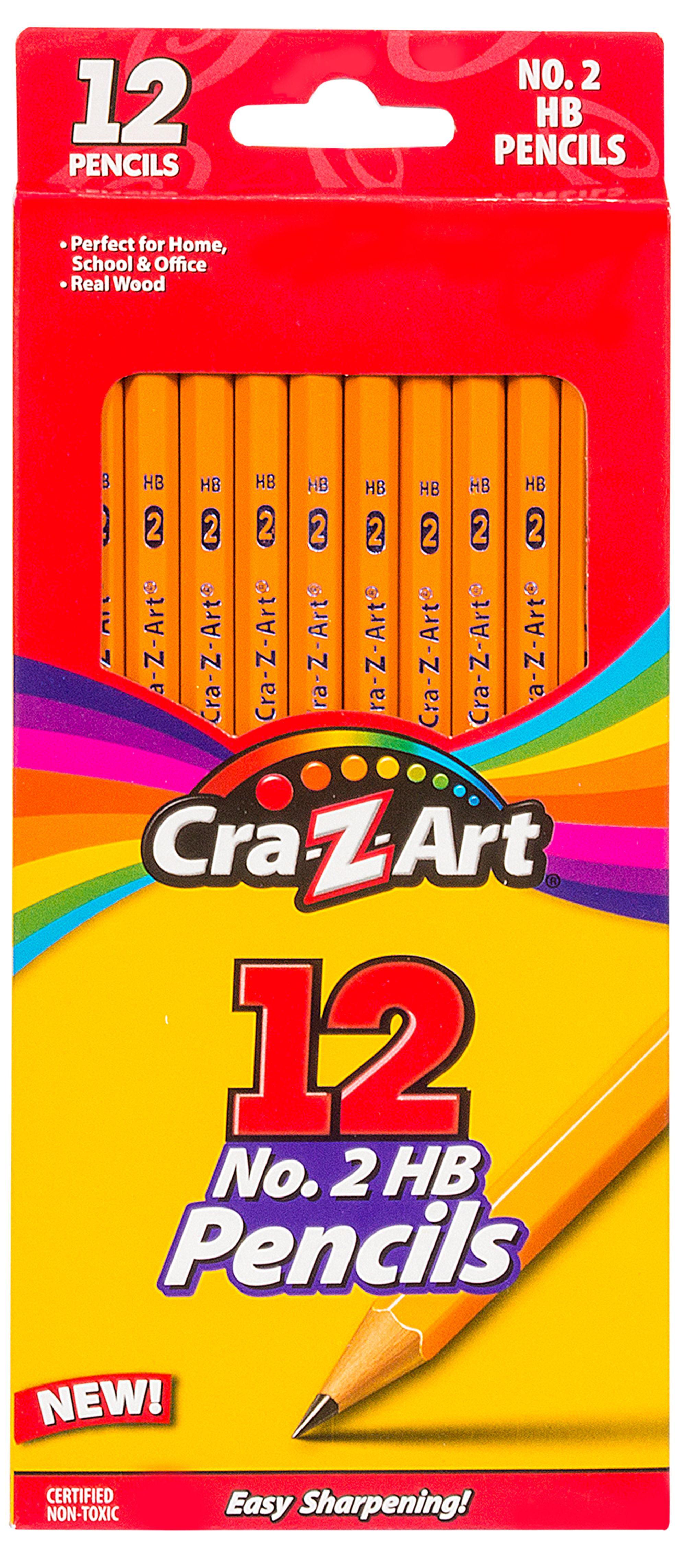 Cra-Z-Art No. 2HB School Pencils, Real Wood - 12 Count ...