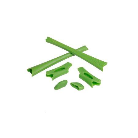 Walleva Green Rubber Kit for Oakley Flak Jacket/Flak Jacket XLJ Sunglasses (Flak Jacket Nur)