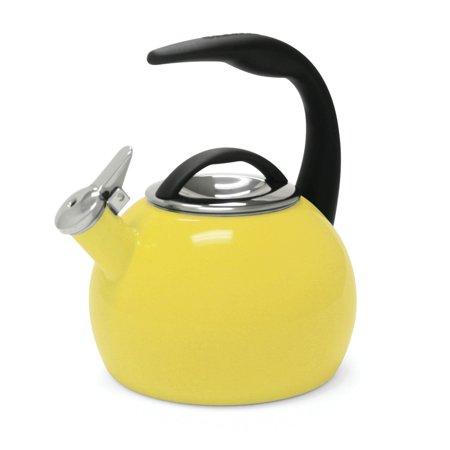 Chantal 2 Quart Enamel On Steel Anniversary Whistling Stovetop Teakettle, Yellow