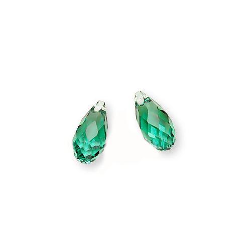 Swarovski Crystal, #6010 Briolette Pendants 11x5.5mm, 2 Pieces, Erinite