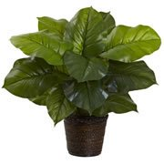 "Home Decorative 29"" Large Leaf Philodendron Silk Plant (Real Touch)"
