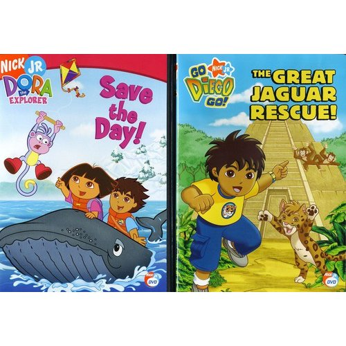 Dora The Explorer: Save The Day! / Go Diego Go!: The Great Jaguar Rescue (Full Frame)