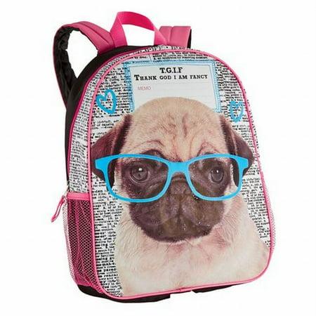Accessories 22 TGIF Fancy Pug Dog Backpack School Travel Cute ...