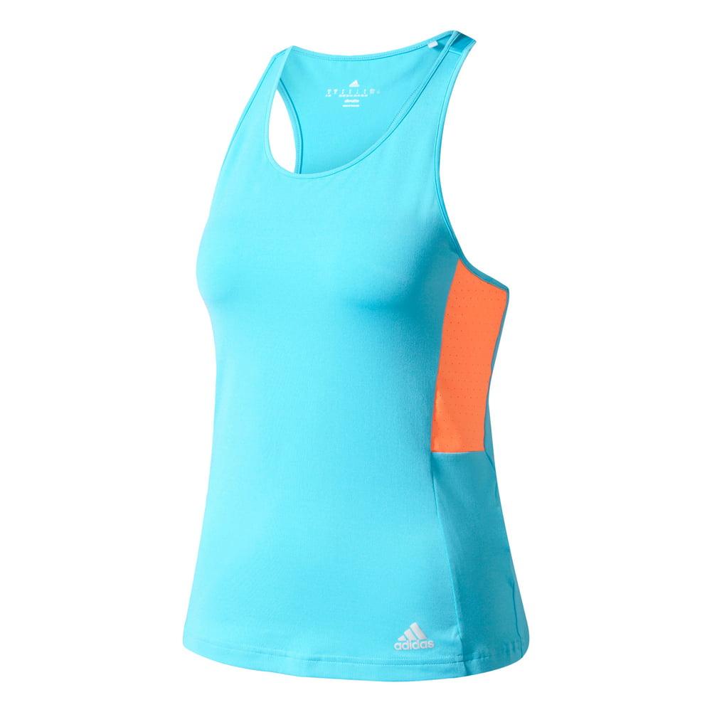 Adidas Women`s Essex Tennis Tank Samba Blue and Glow Orange