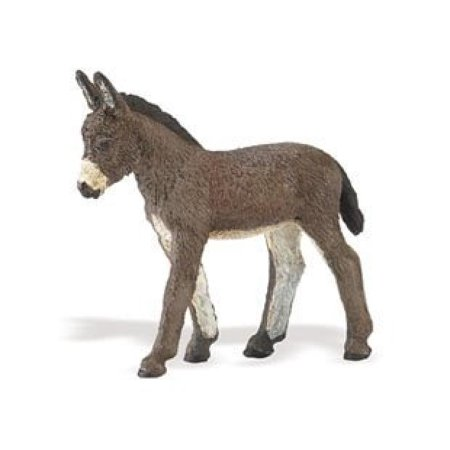 Safari Ltd Safari Farm Donkey Foal - Realistic Individually Hand-Painted Toy Figurine Model - Quality Construction from Phthalate and Lead-Free Materials - For Ages 3 And Up](Rubber Donkey Toy)