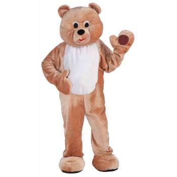 DLX PLUSH HONEY BEAR MASCOT - Adult Teddy Bear Costume
