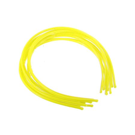 10pcs 4mm Plastic Candy Colors Teeth Headband Skinny Thin Hair Band Hairpin (Plastic Headbands In Bulk)