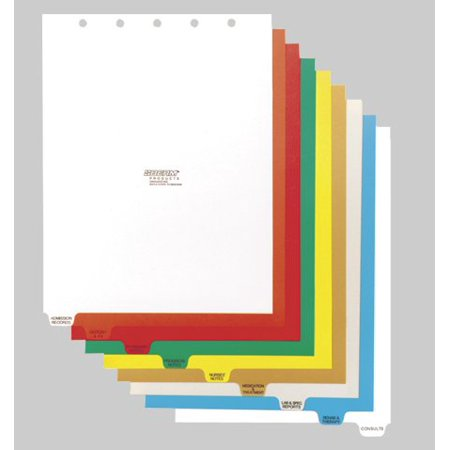 Omnimed  14 Tab Preprinted Poly Chart Dividers with Top Open