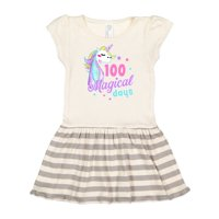 100 Magical Days with Unicorn and Stars Toddler Dress