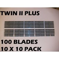 Personna Twin II Plus - 100 Count (10 x 10 Bulk Packs)