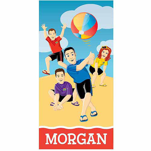 Personalized The Wiggles Summer Fun Beach Towel