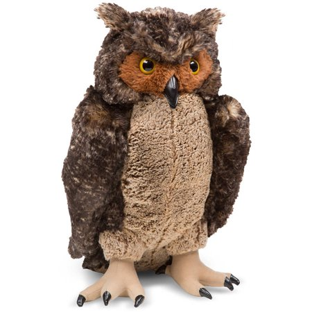 Melissa & Doug Giant Owl, Lifelike Stuffed Animal, 17