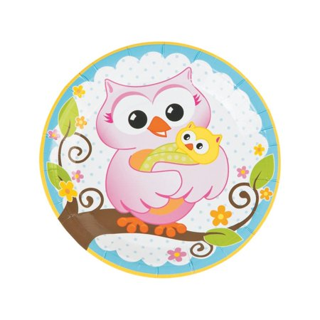 Owl Baby Shower Paper Dinner Plates - Owl Baby Shower Plates