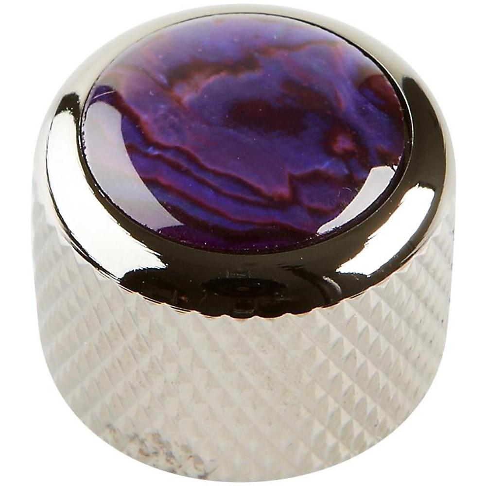 Q Parts Shell Dome Knob Single Black Chrome Purple Abalone by Q Parts