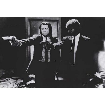 Pulp Fiction   Movie Poster   Print  John Travolta   Samuel L  Jackson   Vincent   Jules   Guns   B   Size  40  X 27