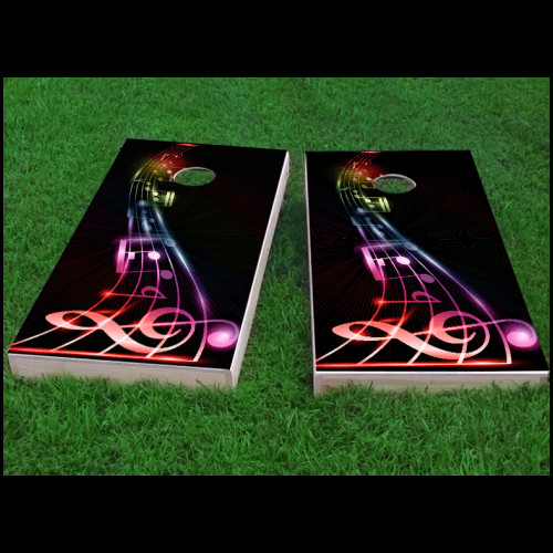 Custom Cornhole Boards Music Notes Cornhole Game (Set of 2) by Custom Cornhole Boards