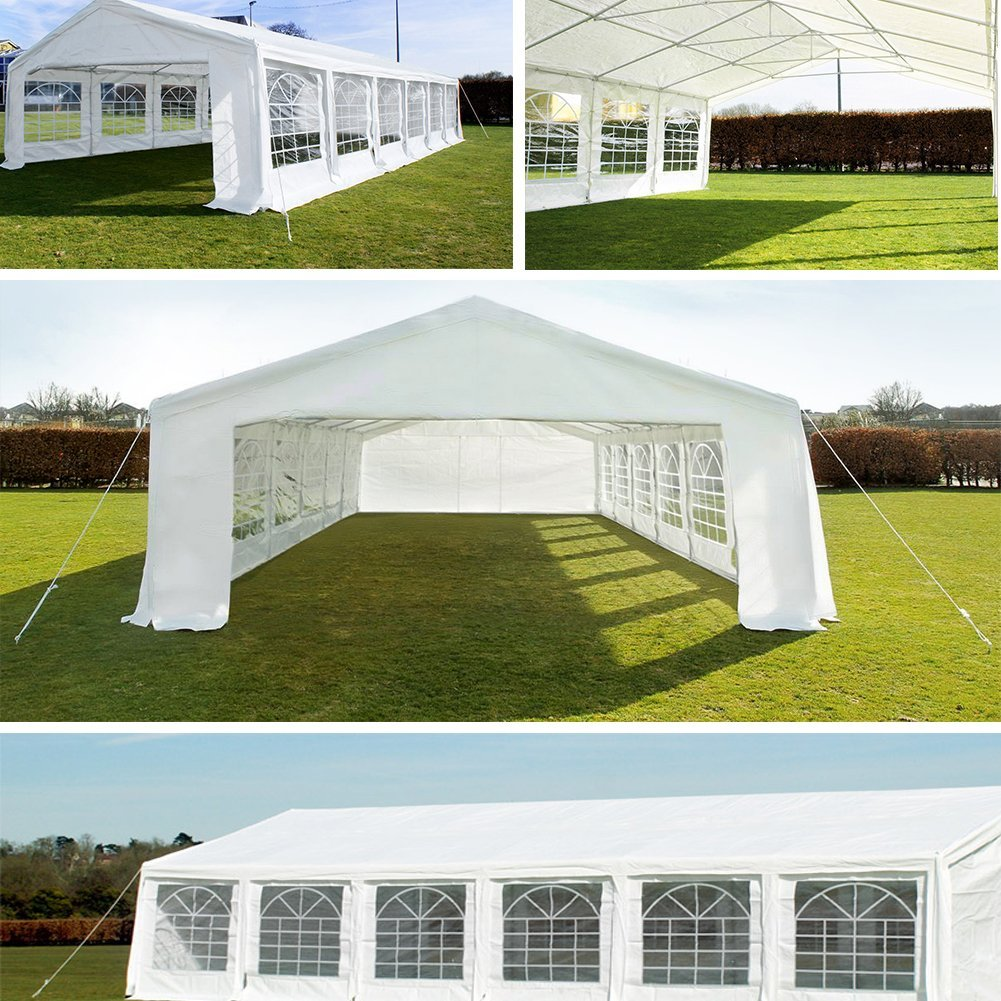 Quictent 13x26/16x32/20x26/20x32/20x40 Heavy Duty Outdoor Gazebo Party Wedding
