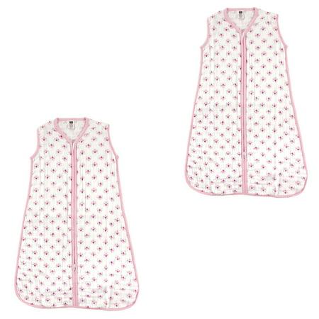 huge discount 32a15 fc217 Hudson Baby Boy and Girl Muslin Sleeping Bag 2 Pack, Flowers, 6-12 Months