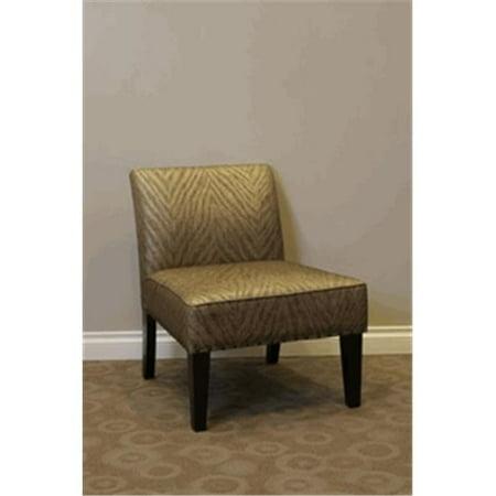 Belinda Accent Chair - Metallic Woven - Metalic Accent