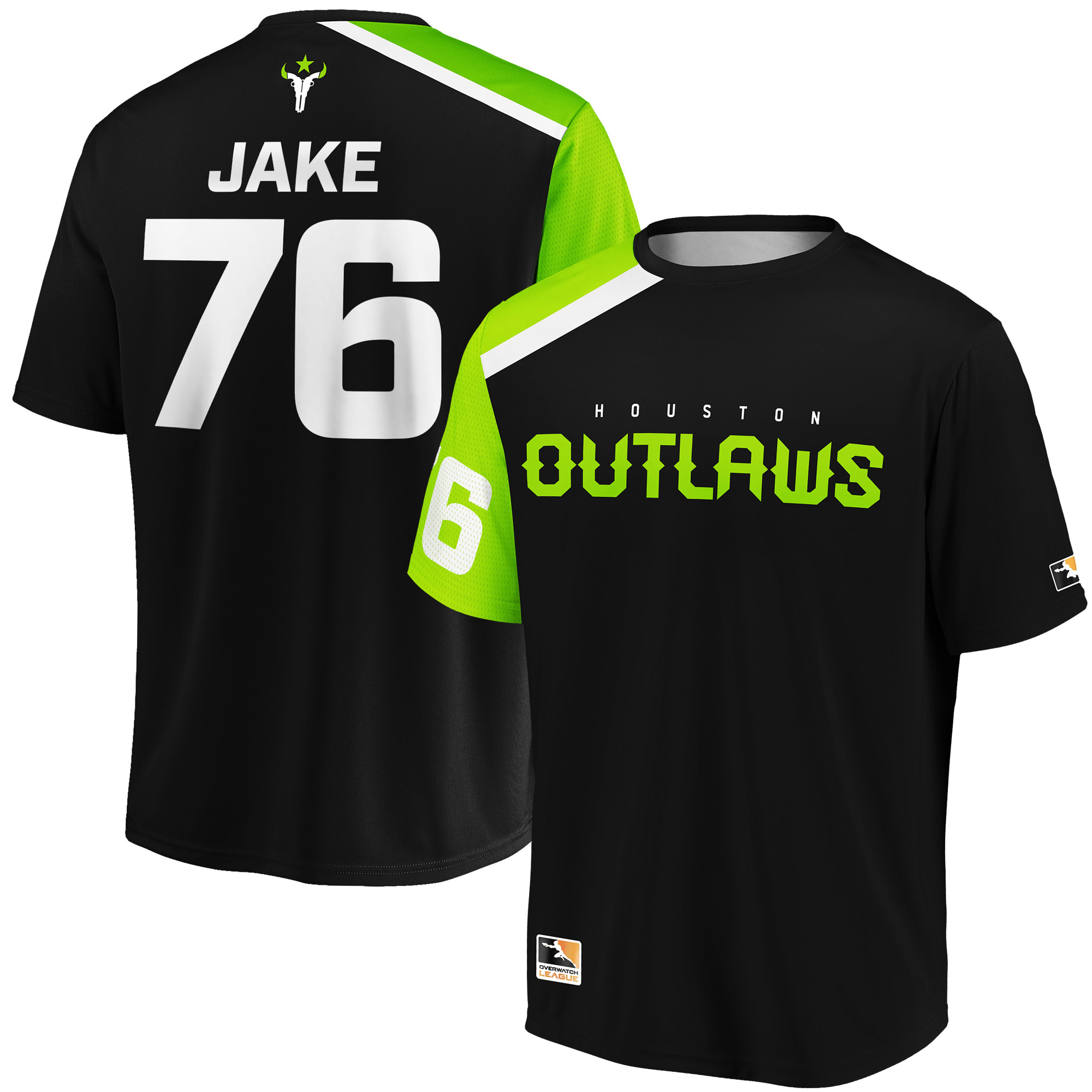 JAKE Houston Outlaws Overwatch League Replica Home Jersey - Black