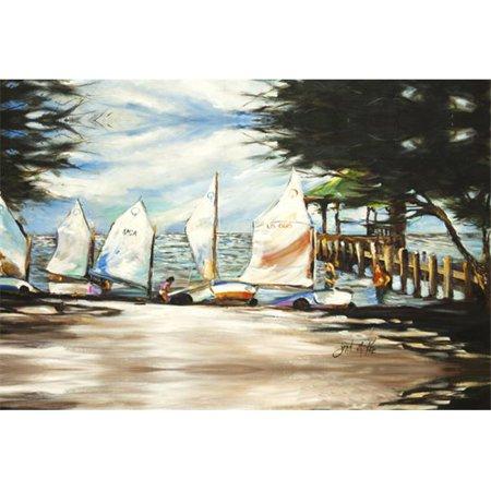 Sailing Lessons Sailboats Fabric Placemat - image 1 de 1