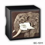 Caravelle Designs SC-1011 Elephant Tissue Box Cover