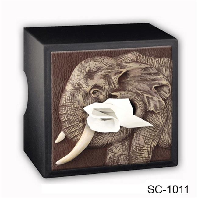 Caravelle Designs SC-1011 Elephant Tissue Box Cover