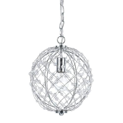 AF Lighting 8284-1H Small Round Silver Web Pendant by AF Lighting