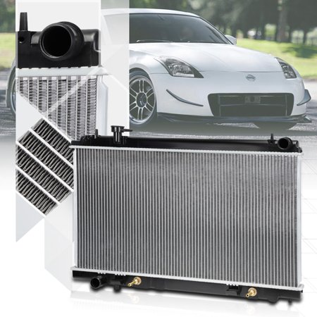 Aluminum Cooling Radiator OE Replacement for 03-06 Nissan 350z AT/MT dpi-2576 04 (06 Nissan 350z Radiator)