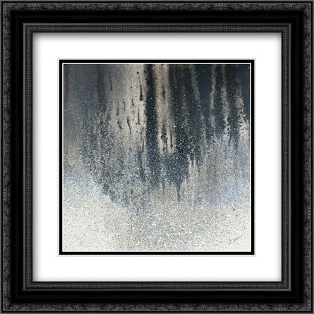 Summer Woods Square II 2x Matted 20x20 Black Ornate Framed Art Print by Mercado, -