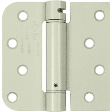 Deltana  DSH4SR5  Specialty  Door Hinge  Square x Radius  ;Prime Coated White
