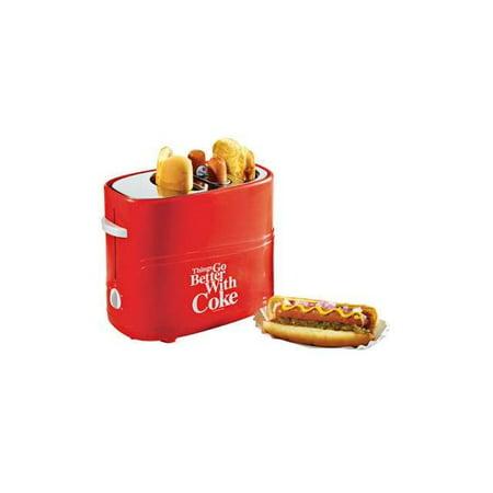 Nostalgia HDT600COKE Coca-Cola®Pop-Up Hot Dog Toaster - Hot Dog Wholesale Prices