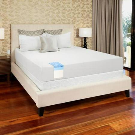 select luxury gel memory foam 8 inch queen size medium firm mattress. Black Bedroom Furniture Sets. Home Design Ideas