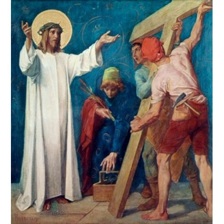 Jesus Carries His Cross 1898 Martin Feuerstein Saint Anna Church Munich Germany Poster Print