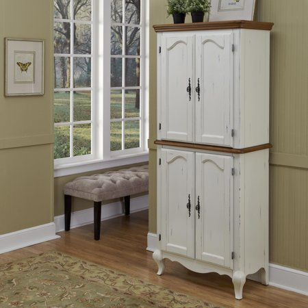 Home Styles French Countryside Pantry In Oak And Rubbed White