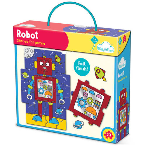 Milly & Flynn Robot Foil Puzzle