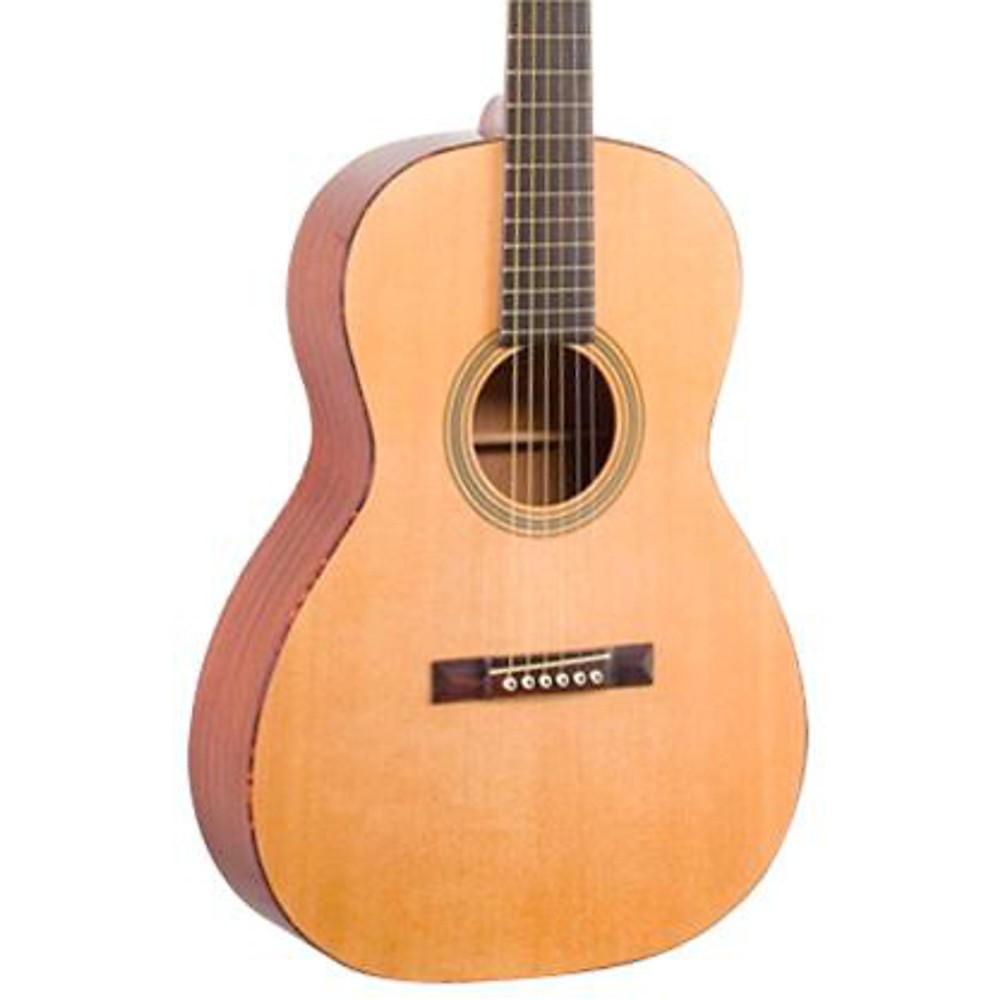 Recording King ROS-06-CE Solid Top 12-Fret OOO Acousic Guitar with Fishman Sonitone EQ, Natural