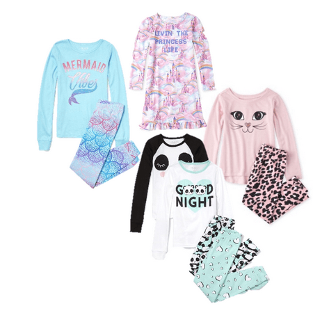 Shop The Childrens Place Girls Fall Pajama Collection Shop The Childrens Place Girls Fall Pajama Collection