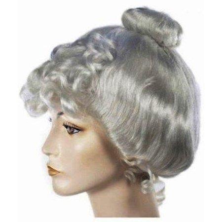 1800s Halloween Pics (Grey Victorian Wig Gibson Girl Lady Curly Upsweep 1800's Costume)