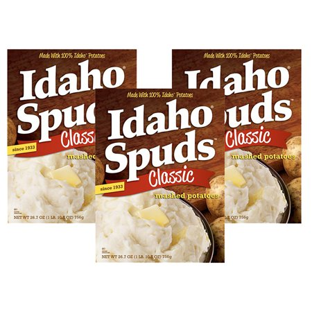 (3 Pack) Idaho Spuds Classic Mashed Potatoes, 26.7 oz