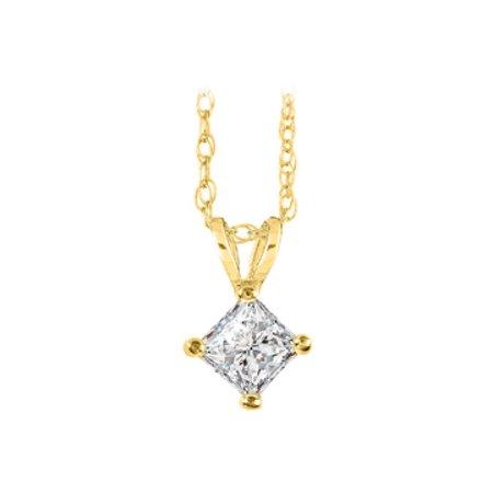 Natural Diamond Solitaire Pendant in 14K Yellow Gold - image 1 de 2