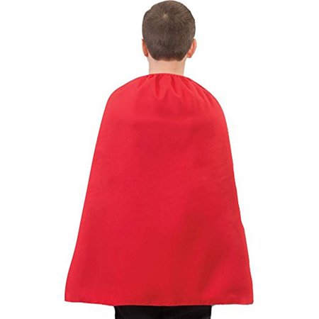 26'' Superhero Child Cape - Black Cape Hood