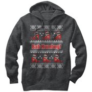 Grumpy Cat Men's Bah Humbug Ugly Christmas Sweater Hoodie